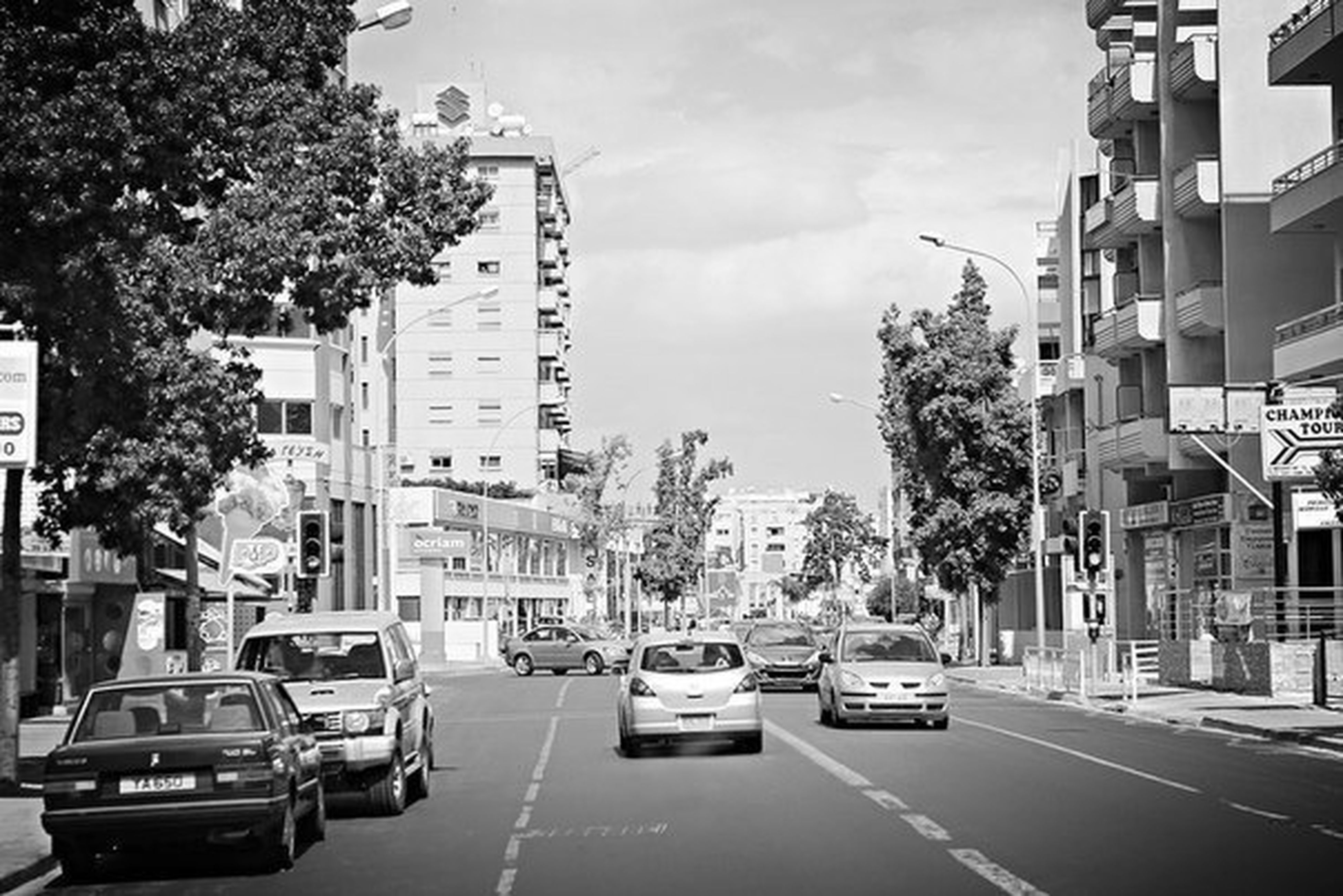Cyprus, Larnaca Traveling City On The Road Hello World