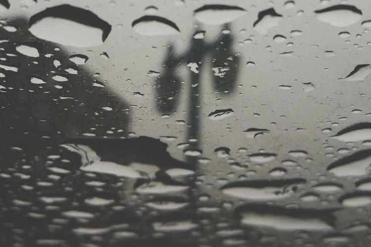 Rainy Day in the City. New York City Rain Drops