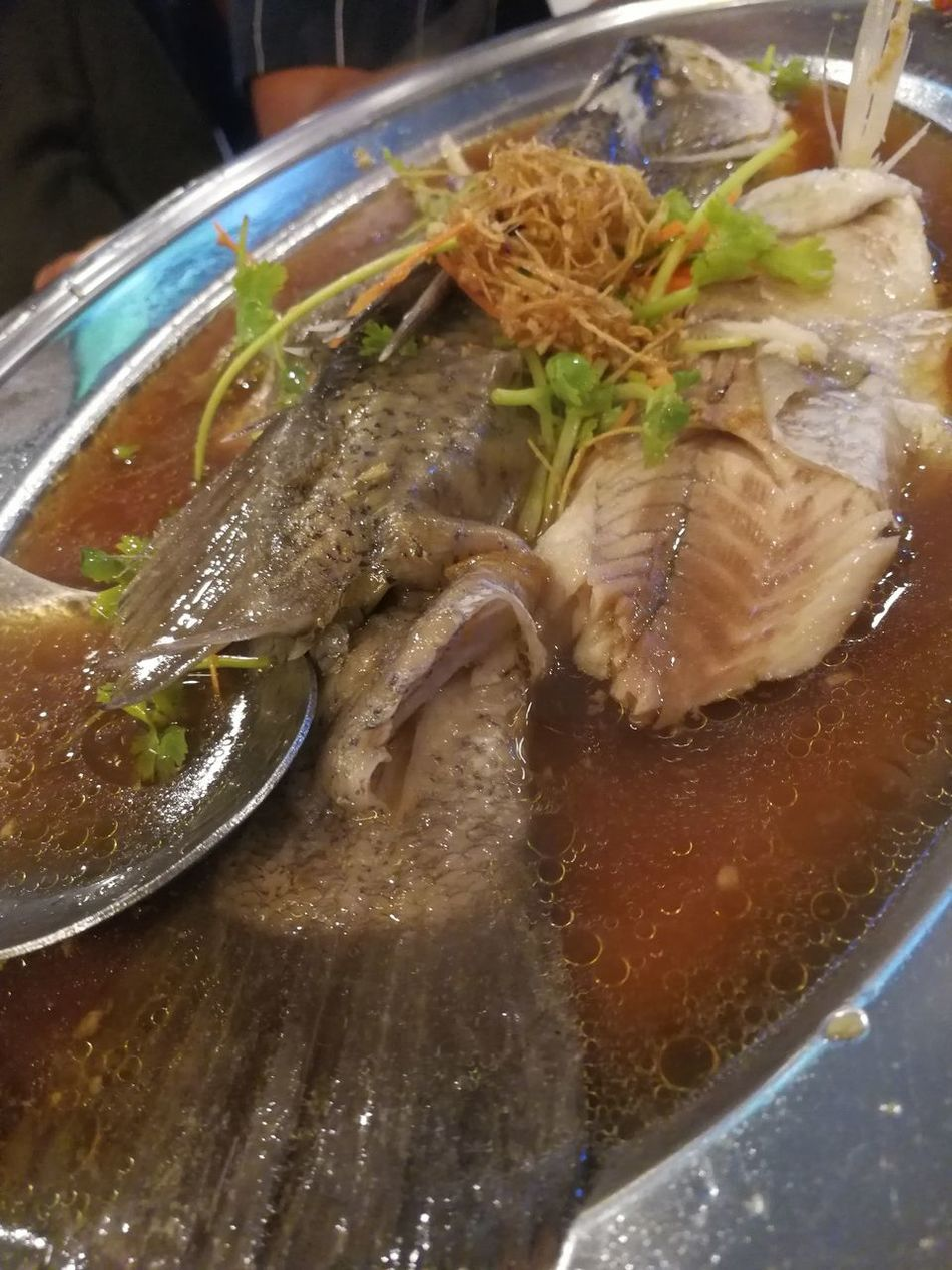 Steamfish, Healthy Eating Front View No People Close-up Food Serving Size Ready-to-eat Food And Drink Freshness Plate