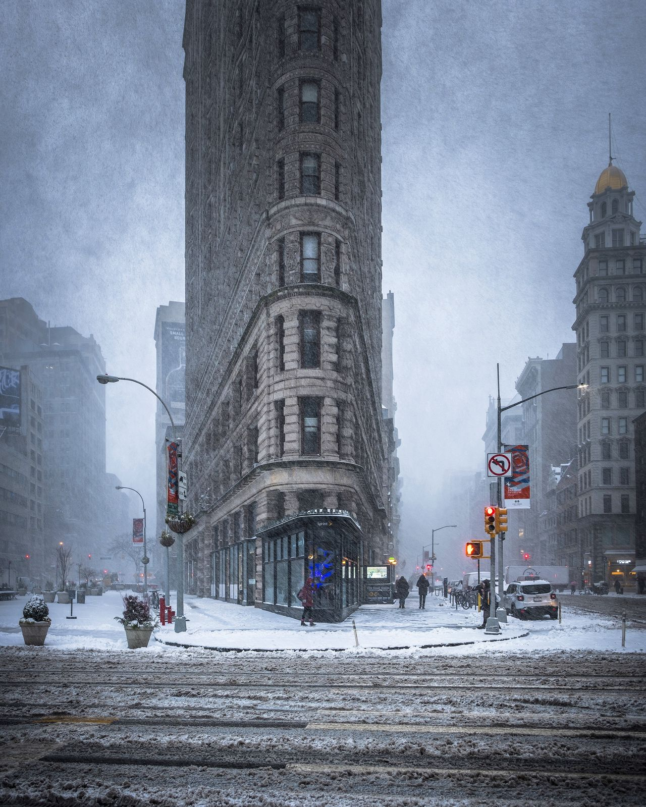 A early morning walk in the Snowstorm bliss fujifilm_xseries Manhattan Nature newyork newyorkcity snow snowstorm streetphotography
