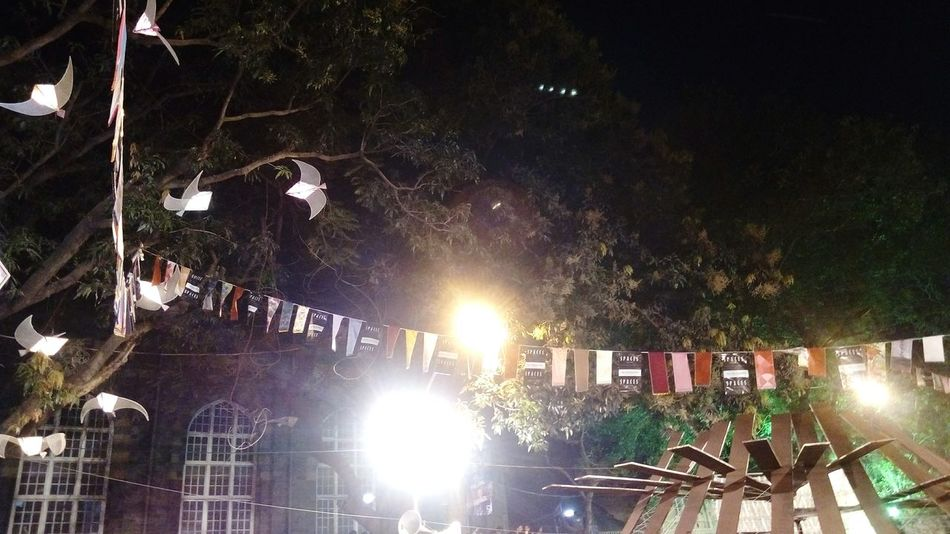 Illuminated Night Low Angle View Tree Outdoors No People Nature Sky Travel Indian Culture  Indian Culture  Famous Tourist Attractions Kalaghodaartfestival Kalaghoda🐴 Tourism