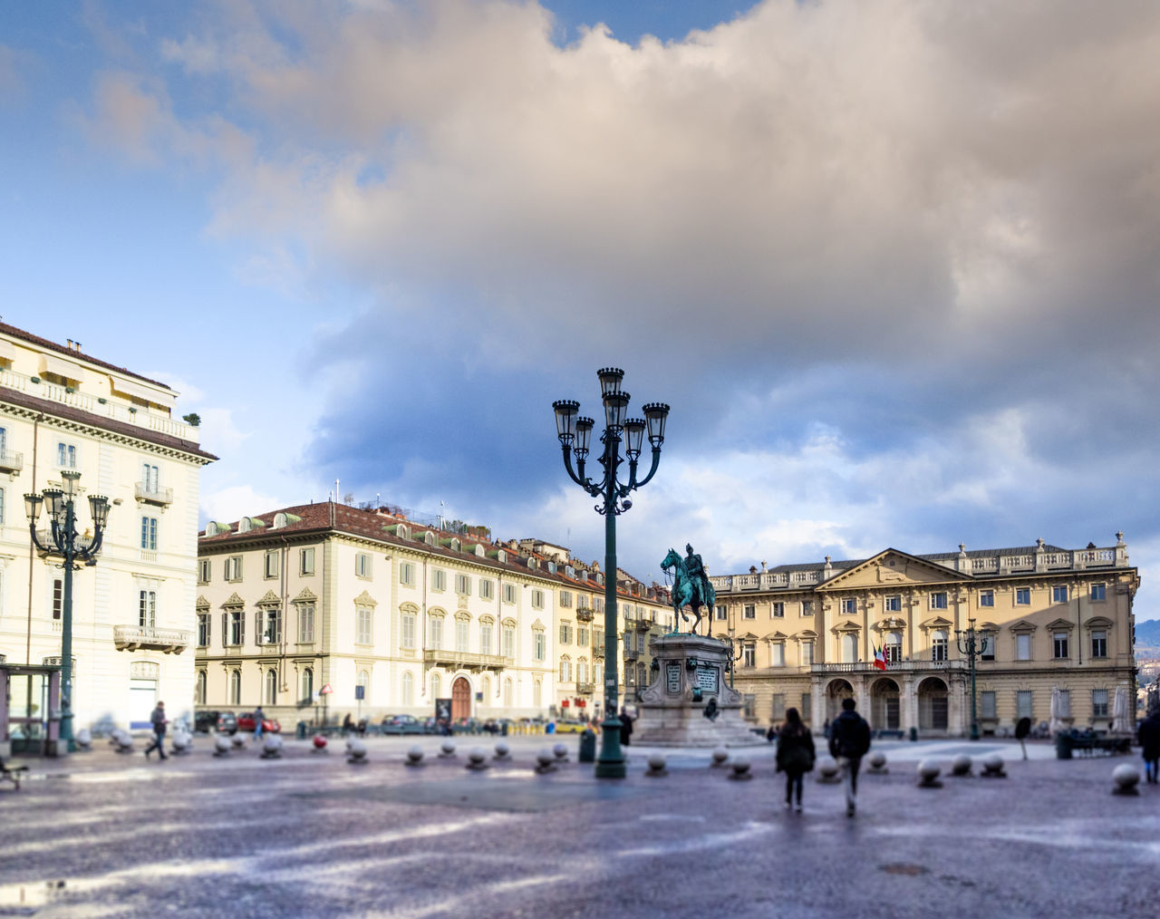 Piazza Bodoni, Torino Italy Architecture Astronomical Clock Building Exterior City City Gate Cloud - Sky Day Large Group Of People Leisure Activity Men Outdoors People Real People Sky Walking Women