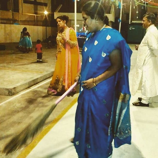 We both worked hard - sis:sweeping; me:posing :P TBT  Christmasactivity Church2015 Imamormon Sisters FamilyTime Poserme Sharegoodness Hyd (P.S: I've done my share of hardwork anchoring the Christmas activity at church while sis enjoyed our act.it was my time to put my hair up) Here Belongs To Me Things I Like