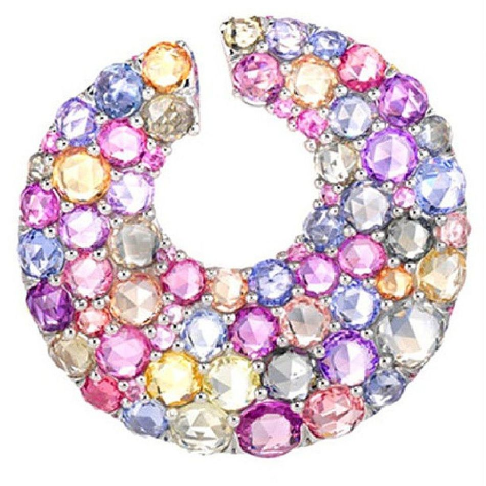 Gununmucevheri @chopard dan gelsin! Multicolored Sapphire Earrings . Jewellery Jewelry Instagramers Moda Stylish Highjewelry Mücevher Safir Küpe Fashion Instafashion Color Girly Stle Awesome Amazing Chic Luxury