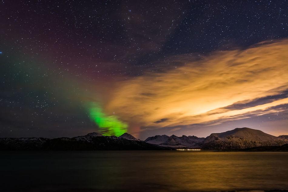 Beautiful stock photos of norway, Astronomy, Aurora Borealis, Beauty In Nature, Cloud - Sky