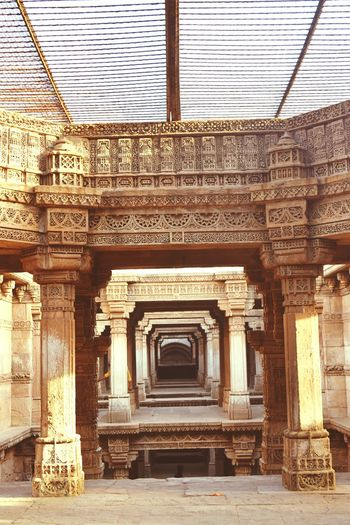 Architectural Column Built Structure Architecture History Travel Destinations City Statue Ahmedabad Adalajstepwell Stepwell