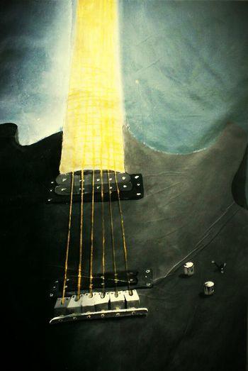 Guitars Art, Drawing, Creativity Painting