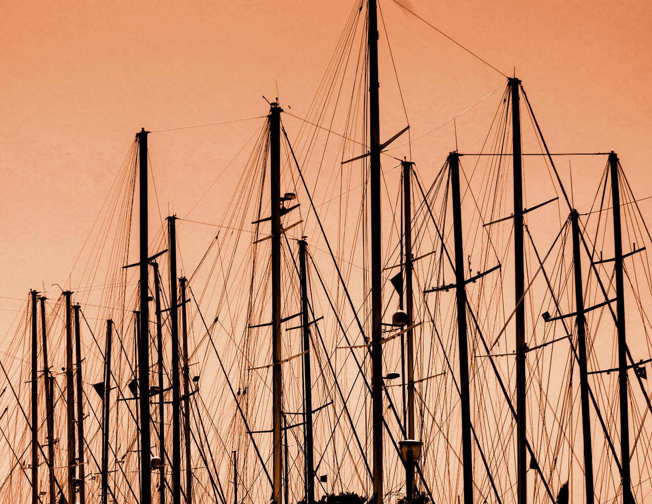 mast, nautical vessel, transportation, mode of transport, sailboat, outdoors, nature, sunset, no people, day, sailing ship, sky, clear sky, tall ship