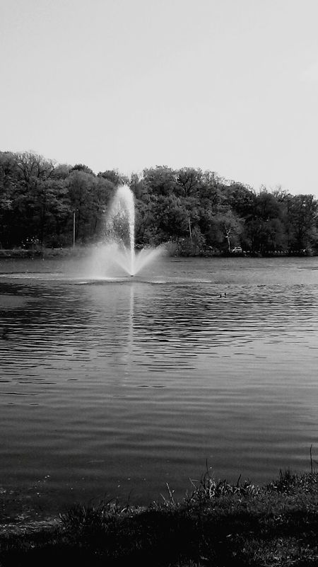 Water Fountain water Fellsreservation Black&white Black And White