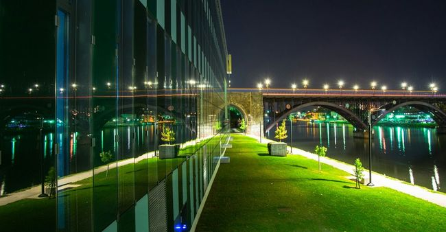 Night time Mirror Mirror Picture Reflection_collection Reflection Architectural Detail Bridge Lights Photography EyeEm Gallery Travel