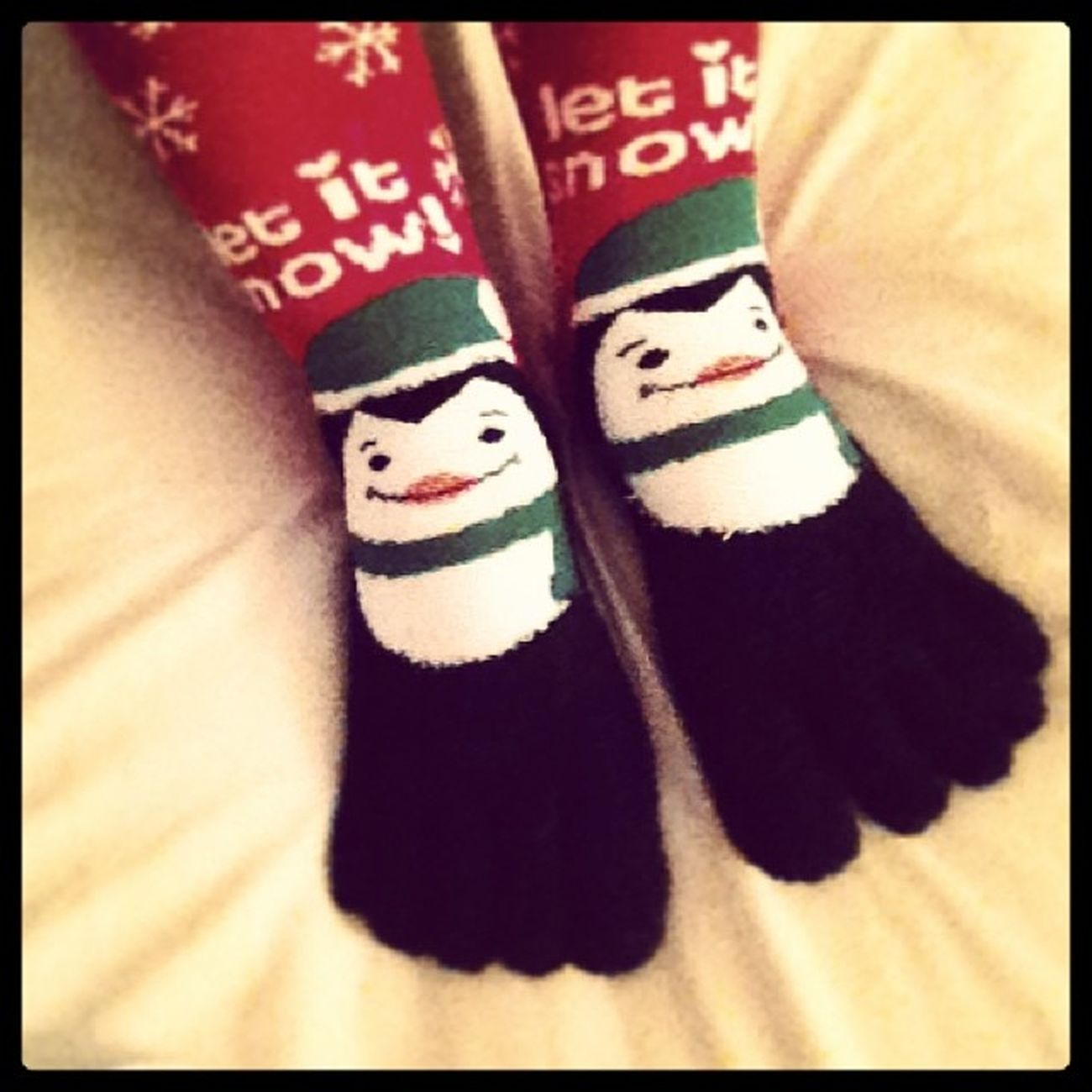 Toesocks Penguins Letitsnow Red green readyforcoldweather festive novembernights relaxed sundaynight