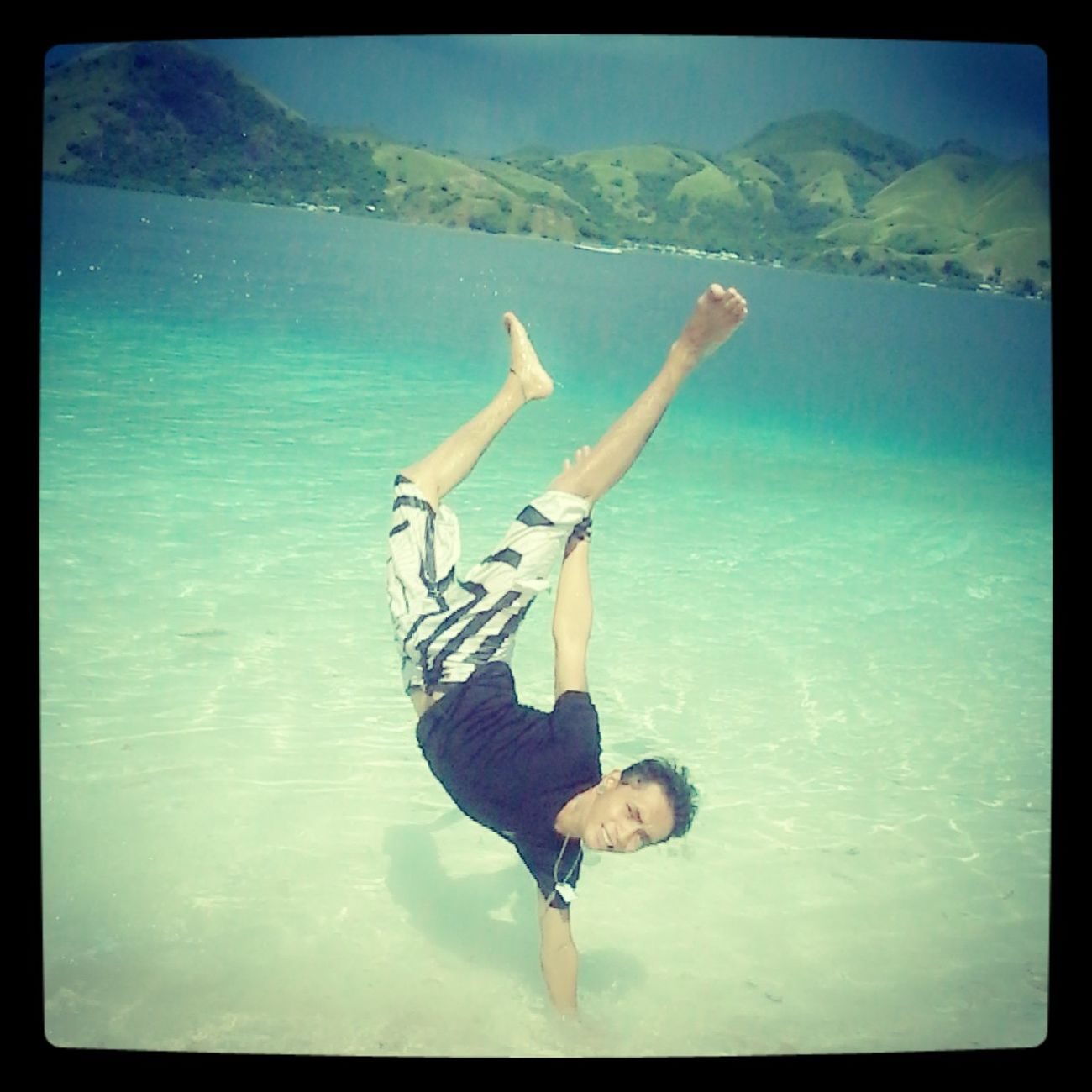 In beach...kelor island...