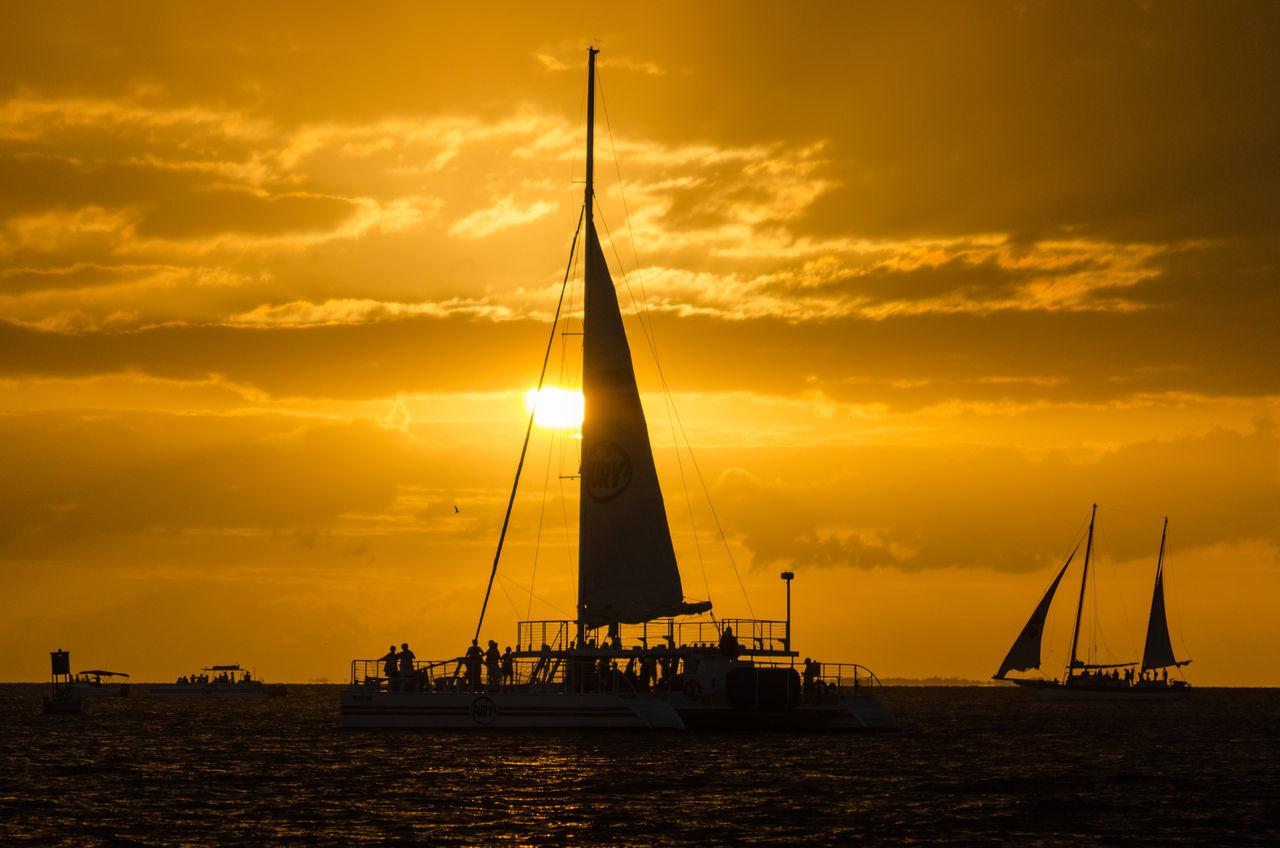 Cloud - Sky Day Mast Nature Nautical Vessel No People Outdoors Regatta Romantic Sky Sailboat Sailing Sailing Ship Scenics Sea Sky Sunset Water Yacht Yachting