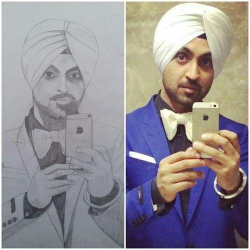 Pencilwork Fan @diljitdosanjh