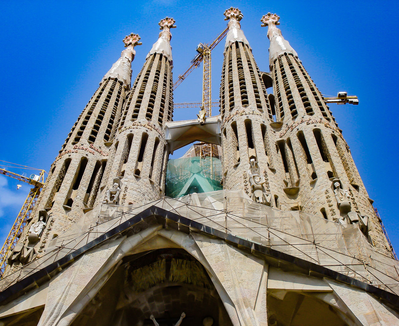 Sagrada Familia in Barcelona, Spain Architecture Barcelona Barcelona Spain. Gaudi Architecture Blue Cathedral Church Clear Sky Famous Place Gaudi Gaudi Barcelona Religion Sagrada Familia Sagradafamilia Spirituality Travel Destinations