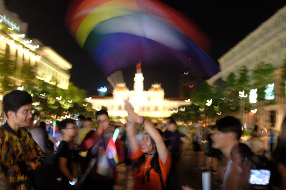 Hundreds of young Vietnamese gathered up the celebrate the Viet Pride Saigon 2016 in Nguyen Hue Walking Streer, despite the heavy rain and last minute change. EyeEm Best Shots EyeEm Vietnam Freedom Ho Chi Minh City Lgbt Lgbt Pride Lgbtiq LGBTQ Rights Photojournalism Pride Pride March Prideparade Queer Rainbow Flag Saigon Viet Pride VietPride Youth Youth Of Today EyeEm Diversity Resist Art Is Everywhere Break The Mold