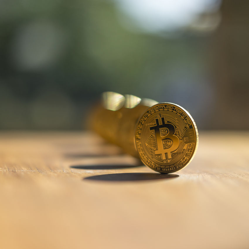 BTC Bright Gold Reflection Stock Photo Bitcoin Bitcoins Bitcoins Stock Bitcoins Stock Photo Blockchain Close-up Computer Crypto Currency Cryptocurrency Dof Gold Colored Golden Bitcoin Golden Btc Money News Picture No People Row Row Of Bitcoins Selective Focus Table