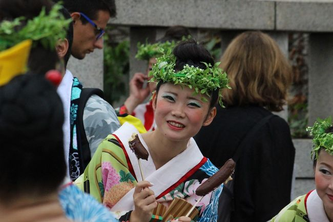 A young woman waiting to perform on stage at the traditional dance festival in Yoyogi Park, Tokyo, Japan. Beautiful Colour Of Life Culture Excited Front View Happy Japan Looking At Camera Performance Person Photojournalism Portrait Smile Streetphotography Tokyo Traditional