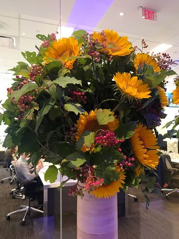 Flower Indoors  Vase Growth Business Nature Flower Shop Bouquet Multi Colored Freshness Working No People Day Beauty In Nature Close-up Flower Head Florist Bloomberg Building