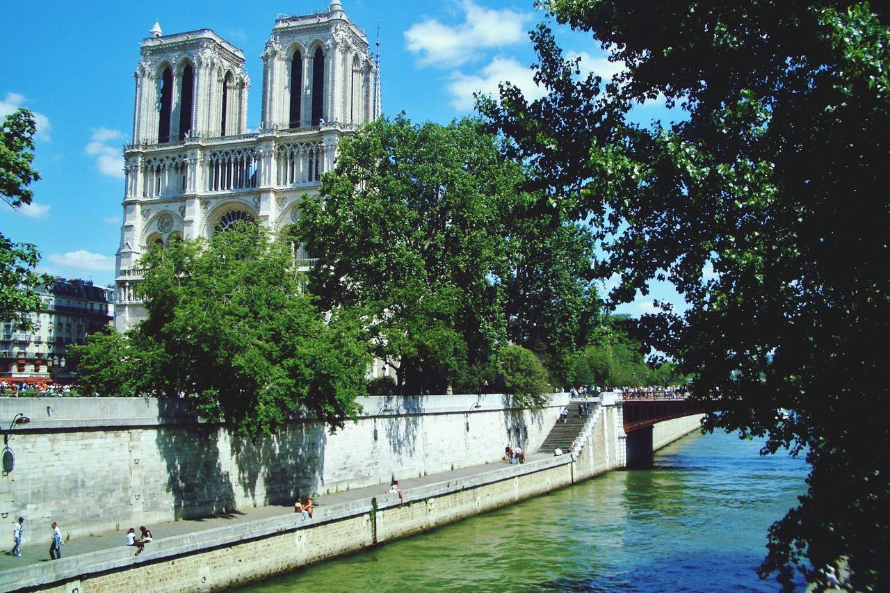 Beautiful stock photos of notre dame, Architecture, Bridge, Built Structure, Capital Cities