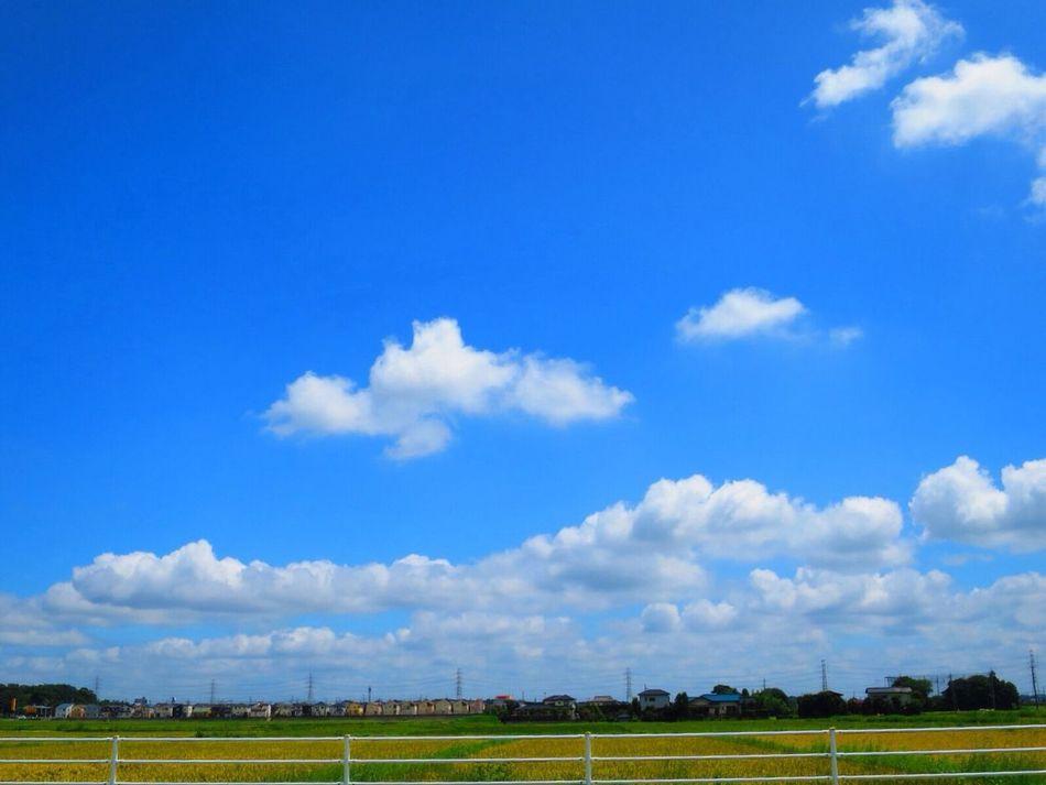 空が広いね Sky Cloud Canon S120 Blue