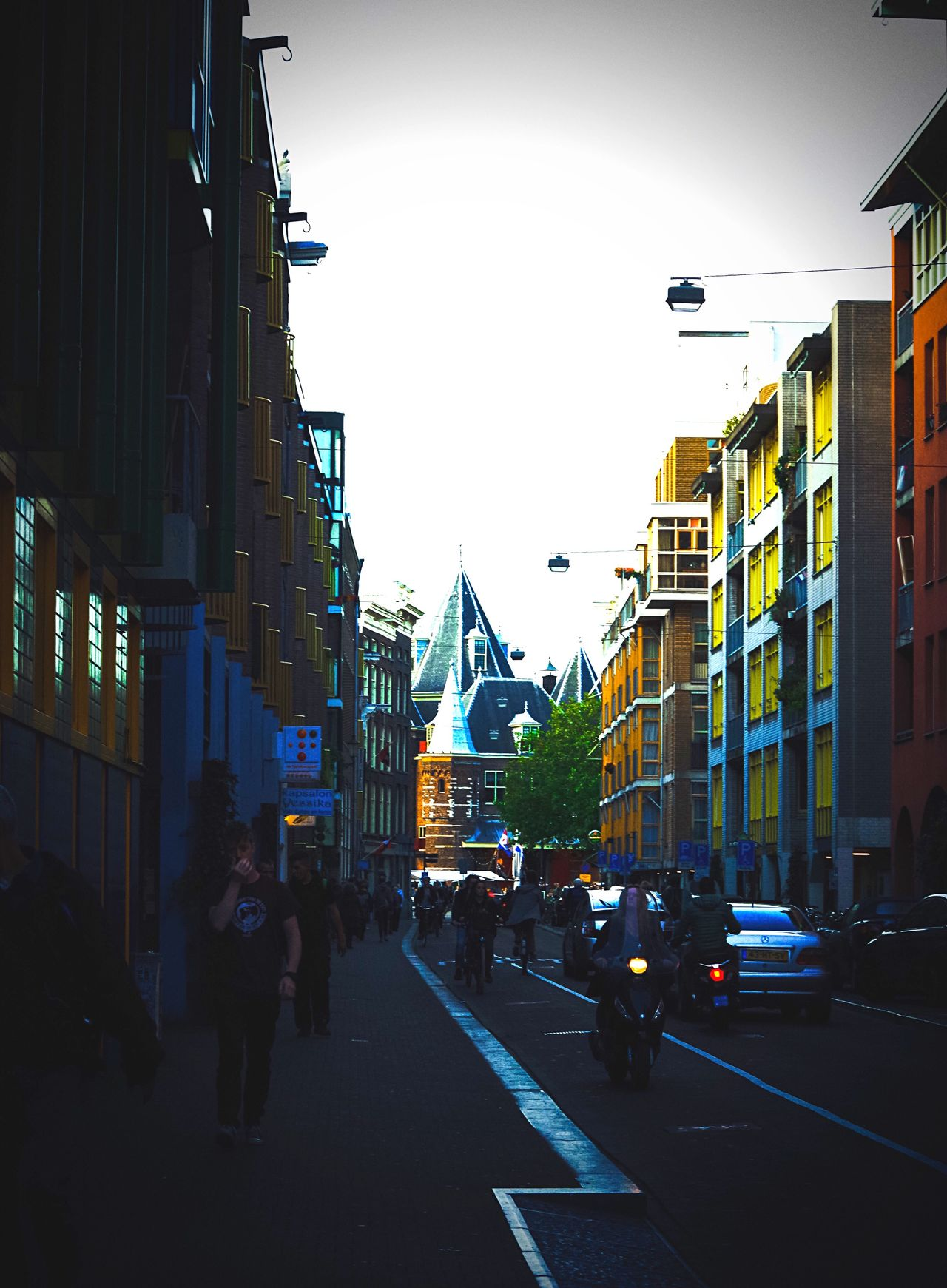 Building Exterior City Architecture Built Structure Street City Life City Street Outdoors Car Sky Land Vehicle The Way Forward Road Travel Destinations Real People Day Amsterdam