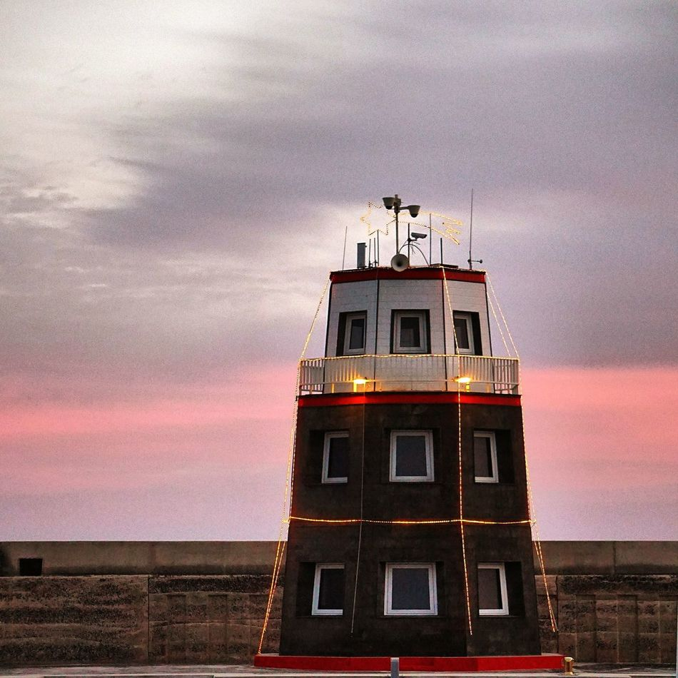 Christmaslighthouse. Sunset Nature Landscape Clouds And Sky Eye4photography  EyeEm Best Shots Open Edit Showcase: December Clouds Architecture Lighthouse