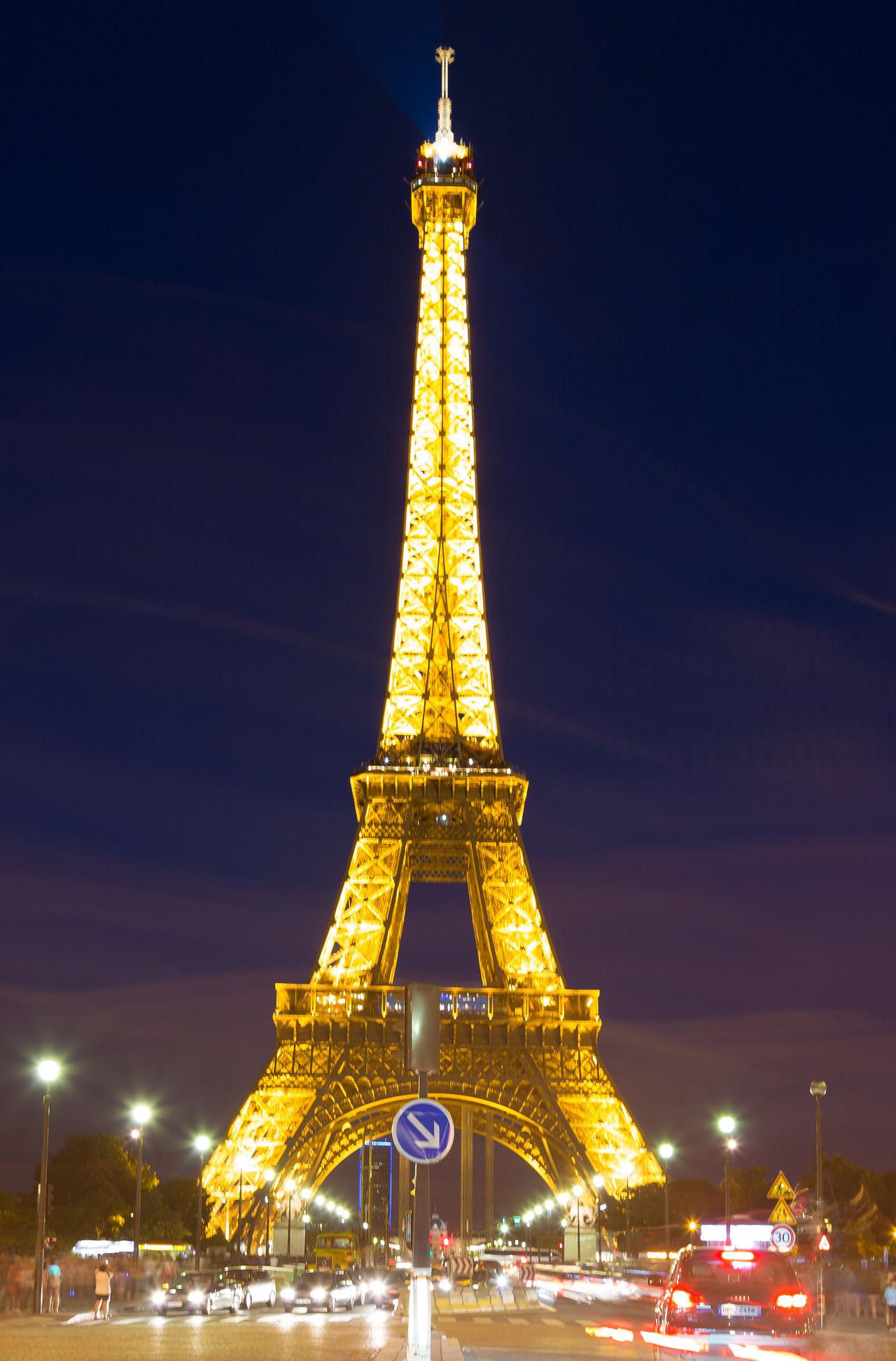 Architecture Atmosphere City Cityscape Cultures Eiffel Tower Eiffeltower Illuminated Lastlight Night Paris Street Tall - High Tower Travel Travel Destinations