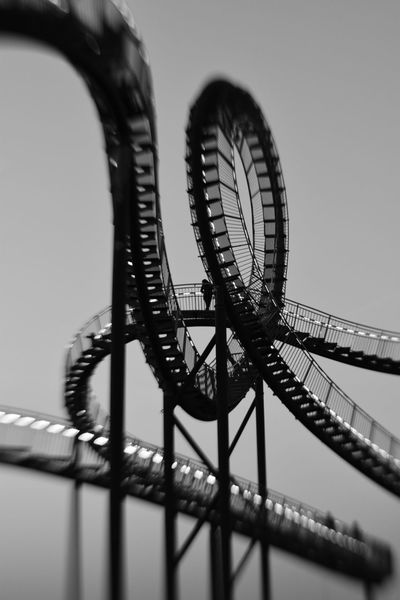 Rollercoaster Outdoors Sky Architecture Steel Day Built Structure Arts Culture And Entertainment Architecture_collection Architectural Feature Duisburg Tiger And Turtle Lensbaby  Sweet50 Sweetspotoffocus Buildings & Sky Building Buildinglover Architectureporn Blackandwhite Black & White Blackandwhite Photography Photography Nikon Nikond5300
