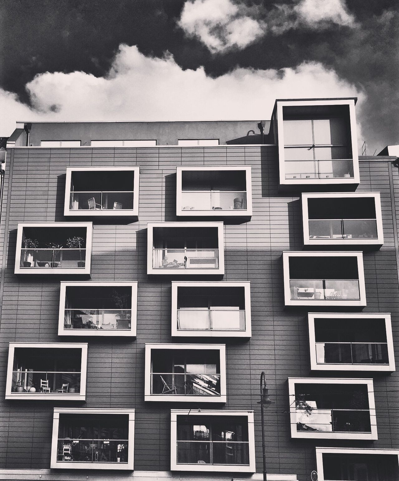 Building Exterior Architecture Window Outdoors No People Built Structure Residential Building Sky Balcony Cloud - Sky Walking Around Streetphotography Berlin Photography Berlin VSCO Cam Instatagapp_instagood_iphonesia_photooftheday_instamood_igers_instagramhub_picoftheday_instadaily_bestoftheday_igdaily_webstagram_instagramers_statigram_igaddict_blackandwhite_iphoneartists_iphoneonly_jj_forum_iphonography_instagrammers_instaaddict_ Berlin Street Photography Gernany Blackandwhite Architecture_collection Black And White Balcony View Building Architecture My Fuckin Berlin