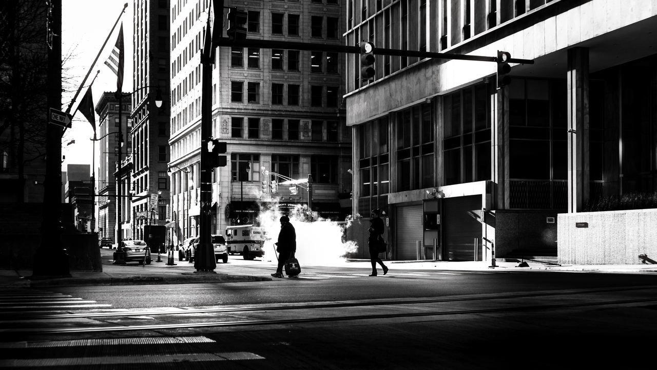 DETROIT - CITYGHOST | #SPBLOG Architecture Black & White Black And White Blackandwhite Building Exterior Built Structure Canonboyz Canonm5 City City Life City Street Detroit Low Angle View Monochrome Monochrome Photography Outdoors Silhouette Street Sunset Two People Urban Urban Exploration The Street Photographer - 2017 EyeEm Awards The Street Photographer - 2017 EyeEm Awards