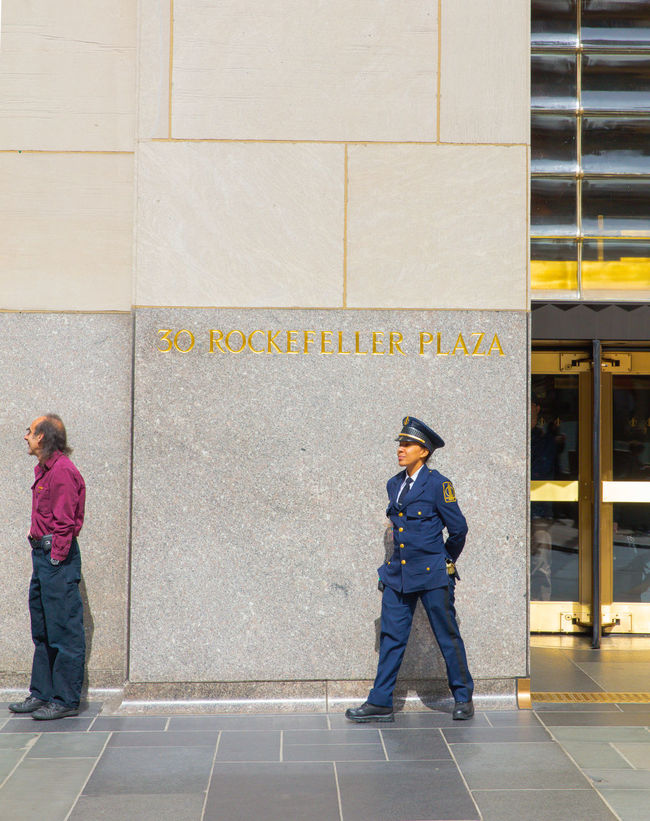 Day Gard New York Outdoors People Rockefeller Center Security Streetphotography