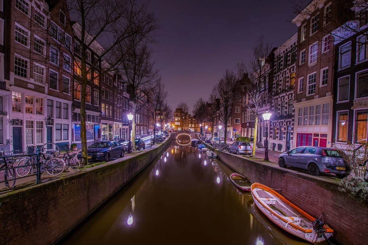 Waterfront Long Exposure Architecture Cityscape Amsterdam Canal Amsterdam Longexposure Travel Street Light