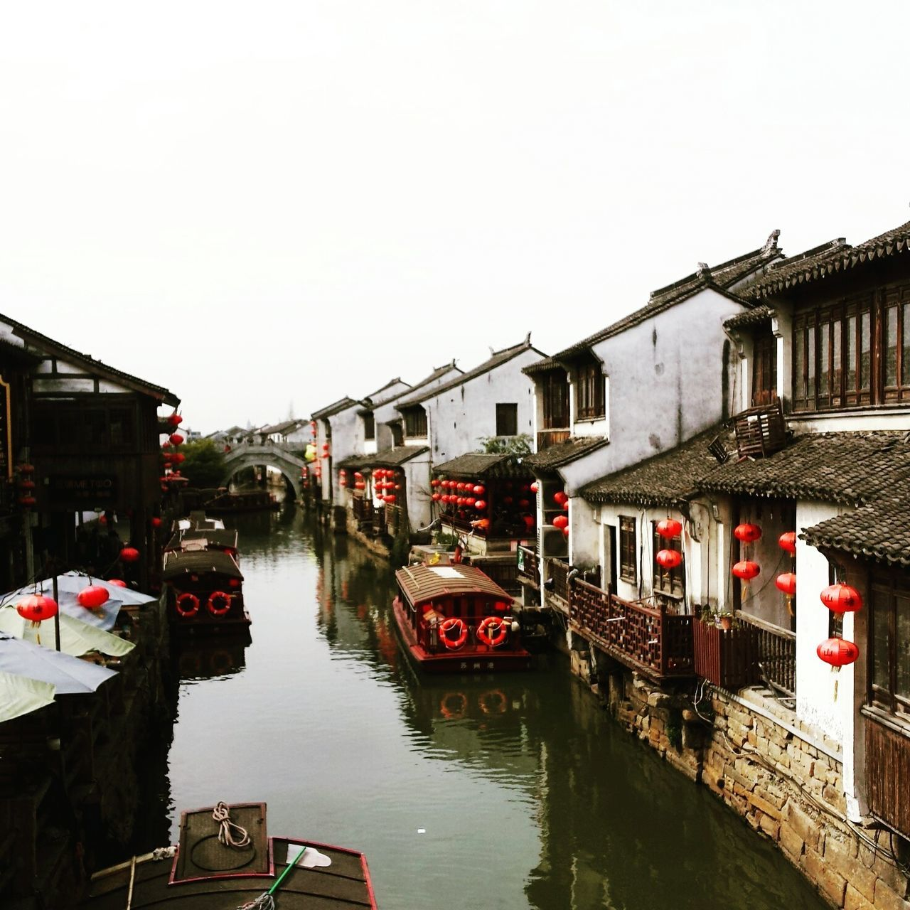 Water Reflection Canal Transportation City Outdoors Bridge - Man Made Structure Built Structure Travel Destinations Architecture Sky Enjoying Life Spring 2017 Quality Time Sozhou Happy Life