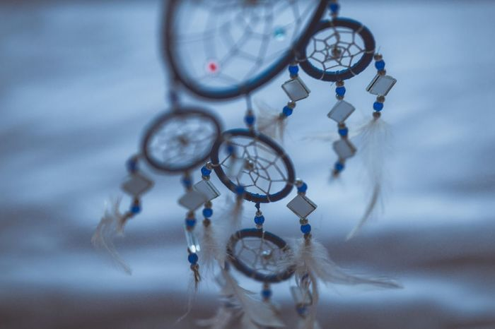 Catchin' dreams Dreamcatcher Hanging No People Luck Close-up Focus On Foreground Day Indoors  Photography Ziess85mm Ziess Canon 5d Mark Lll Dreaming Feathers Focus Dreamcatchers