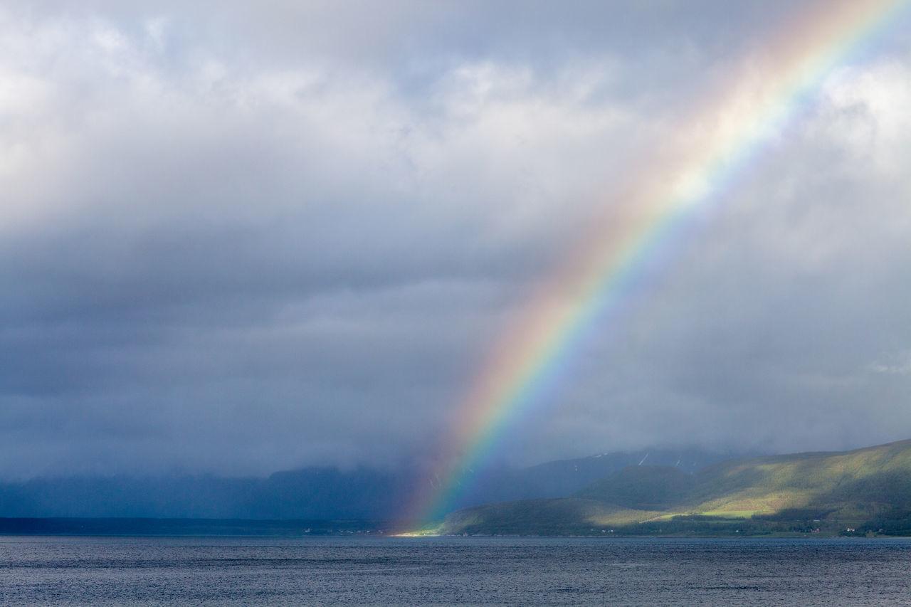 Beautiful stock photos of rainbow, Beach, Beauty In Nature, Cloud - Sky, Cloudy