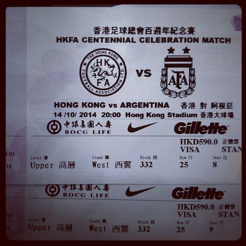 Tuesday night Football HongKong Argentina Excited Hongkongstadium Sports