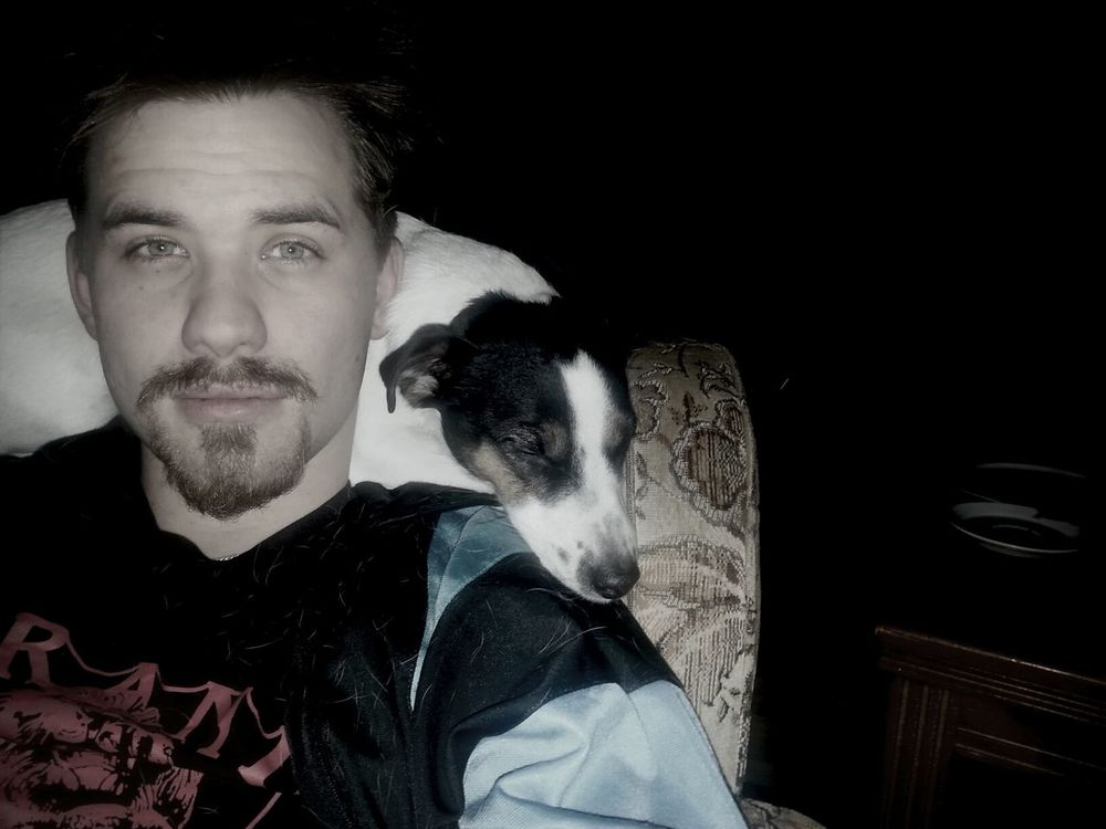 me and my dog maybe need to go to sleepgood night folkz That's Me Relaxing Enjoying Life