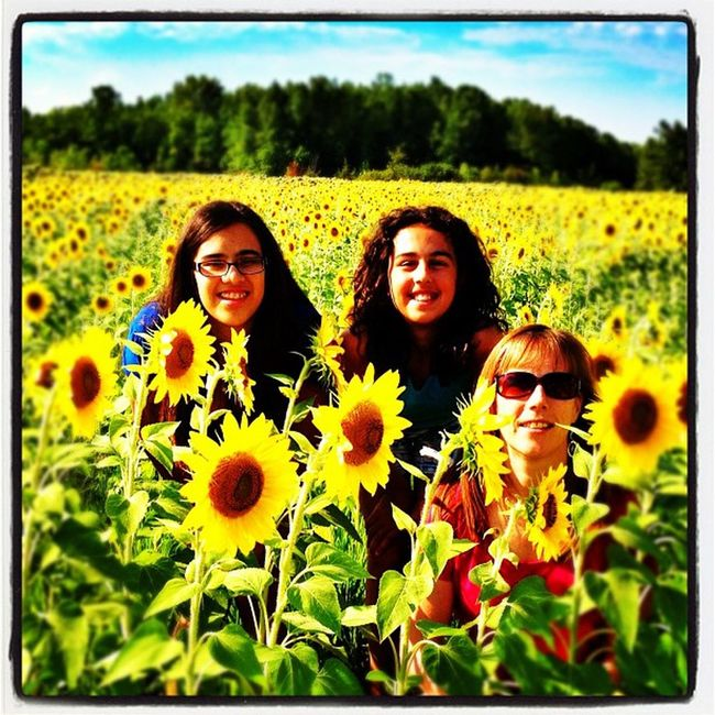 My pretty ladies in a sea of beautiful #sunflowers. #grandisle #vt Webstagram Gmy Myladies Kids Iphonegraphy Flowers Vt Gorgeous Vt_scenery Field Vermont_scenery Iphoneonly 802 Photooftheday Igharjit Picoftheday Vermontbyvermonters Mylife Vt_scene Vermont Vermont_scene Sunflowers Igvermont Instamood Igvt Wife Grandisle Instagood Instagramjit Instagramhub
