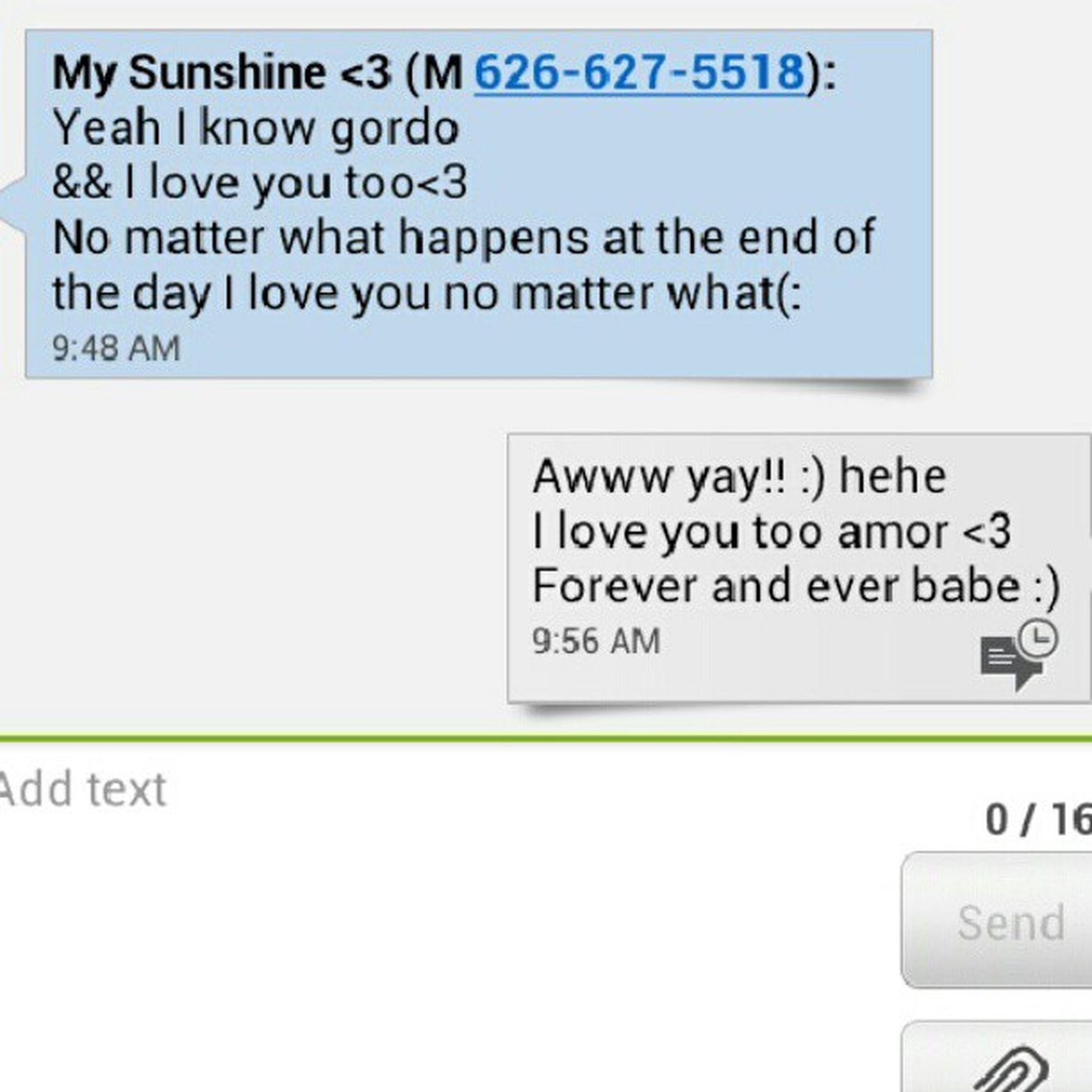 She always knows how to make me smile and its even better waking up to this :) Morningtextsarethebest Shesthebestgirlfriendever Shesamazing @peaceloveramos
