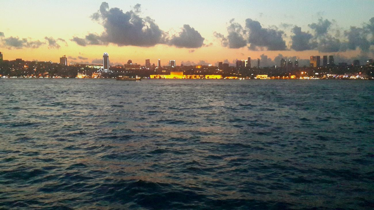 Sky City Urban Skyline Sea City Life Sightseeing City Lights Istanbul Sea View Sunset Sunset Silhouettes Silhouette Building Exterior Hanging Out Tower Built Structure EyeEm Best Shots üsküdar Sahil City Life Urban Lifestyle Urban Urbanphotography Reflection Reflections In The Water Watching The Sunset