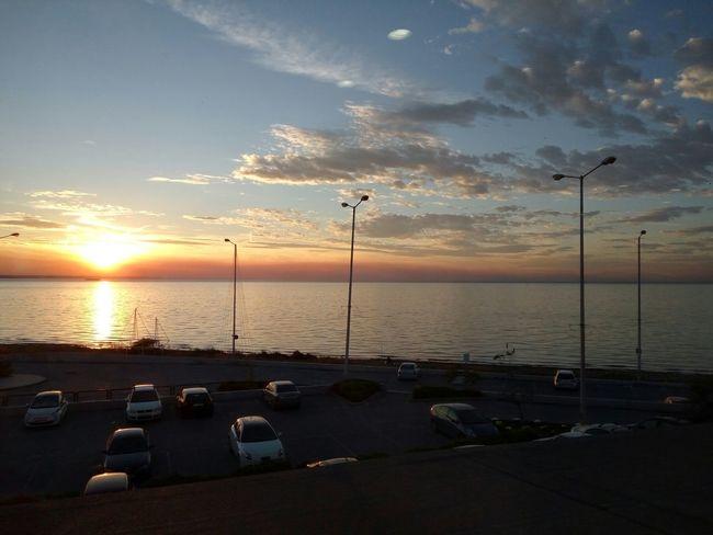 Sunset Sea Sea And Sky