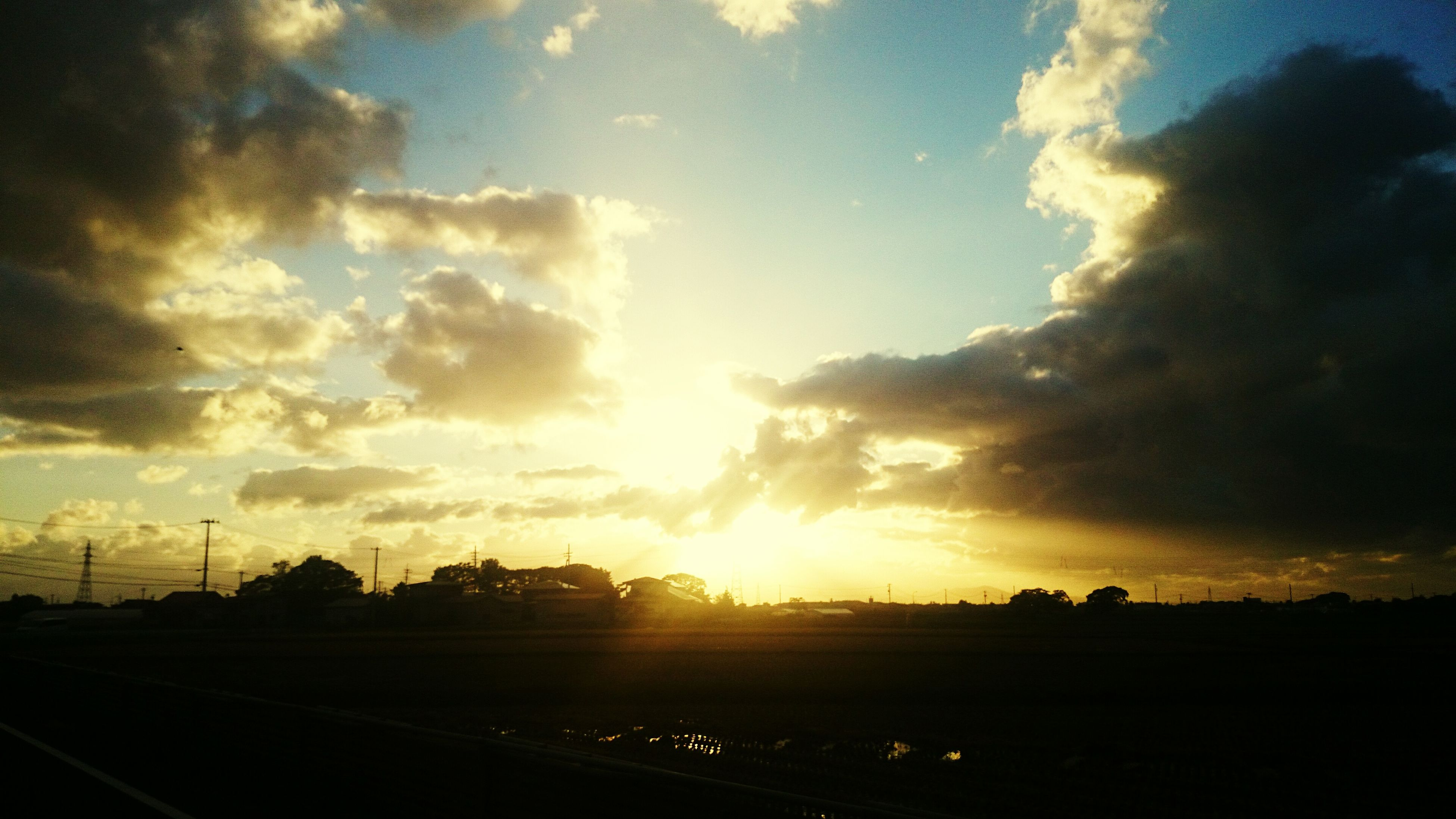 sky, sunset, cloud - sky, silhouette, nature, beauty in nature, scenics, outdoors, sun, no people, tree, day