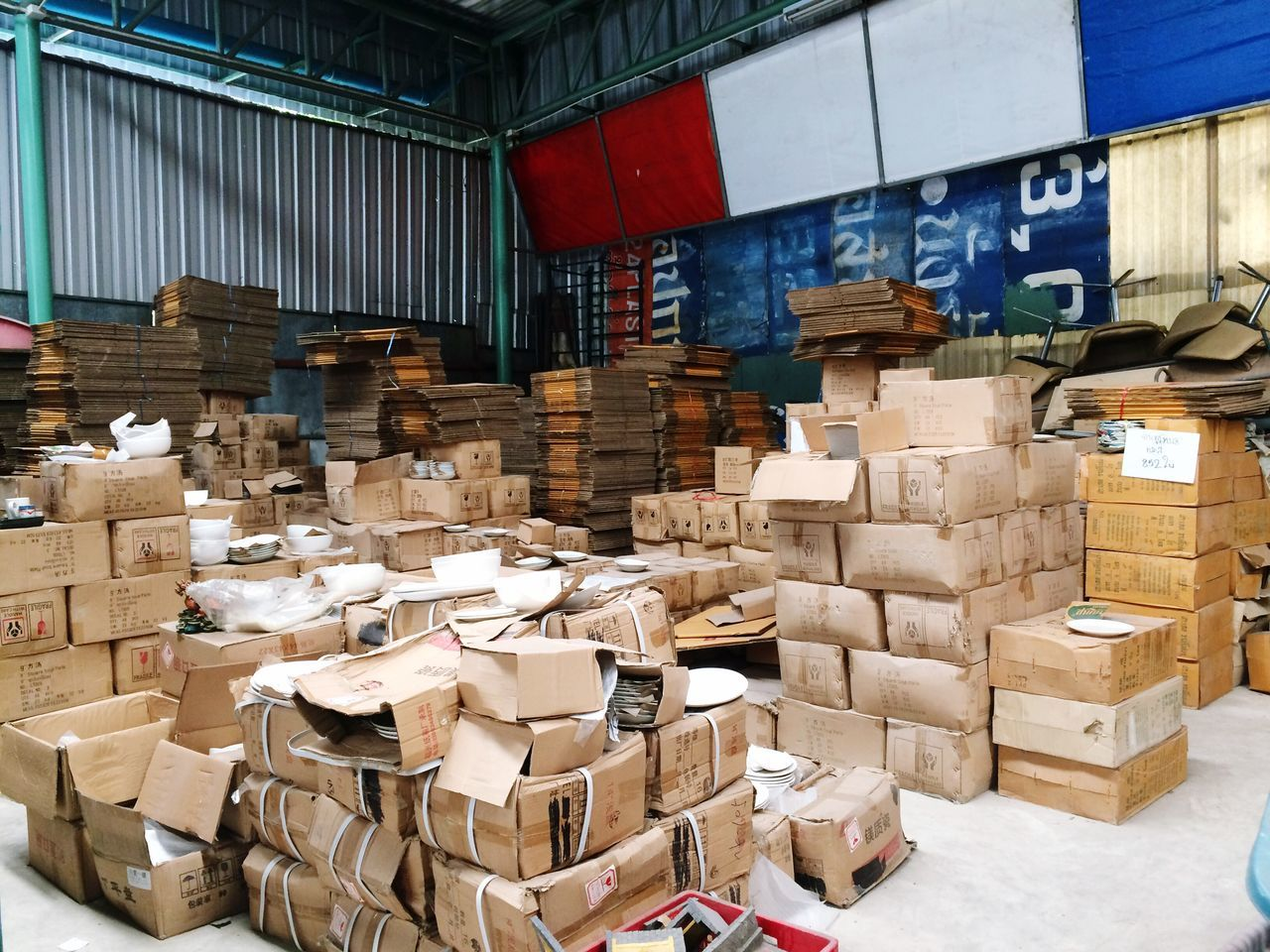 Boxes High Angle View Stack Large Group Of Objects Warehouse Cardboard Box Material Abundance Distribution Warehouse No People Indoors