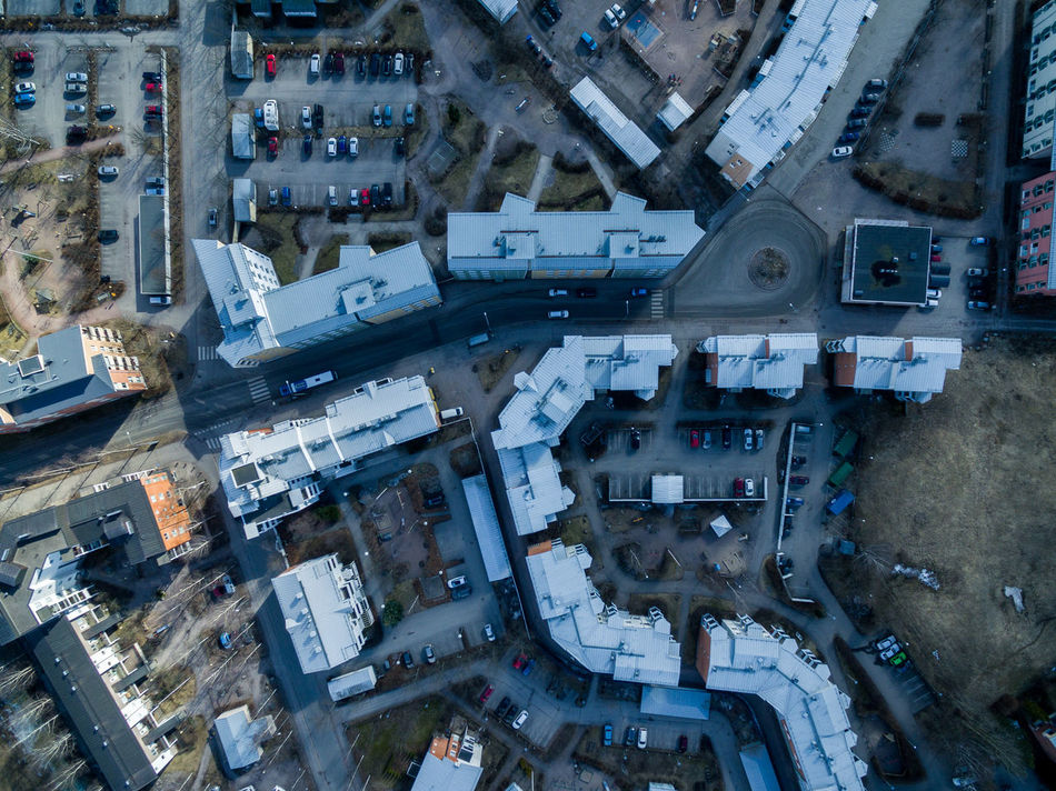 Aerial Aerial View Building Exterior City Cityscape Day Downtown District Drone  Finland Helsinki High Angle View Ice Rink Nature No People Outdoors Park Road Roof Top Top Perspective Top View Urban Skyline