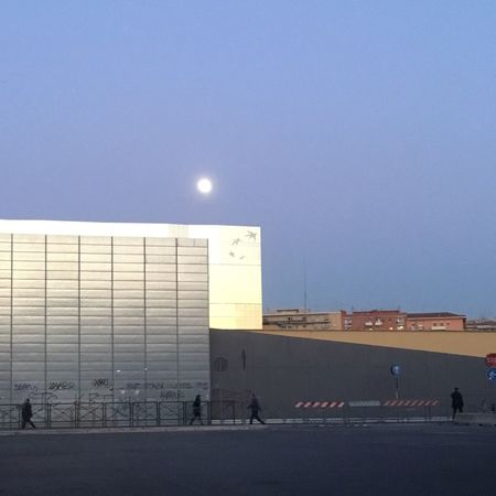 Clear Sky Copy Space Built Structure Architecture Moon Outdoors The Graphic City Building Exterior Sky Astronomy Day