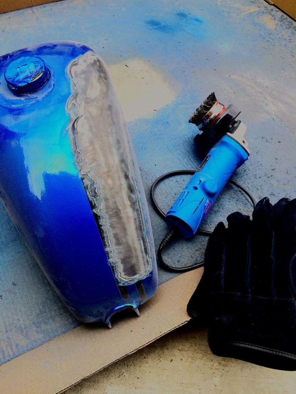 Peeling Tank Paint Painting Sportstank Harleydavidson Shovelhead