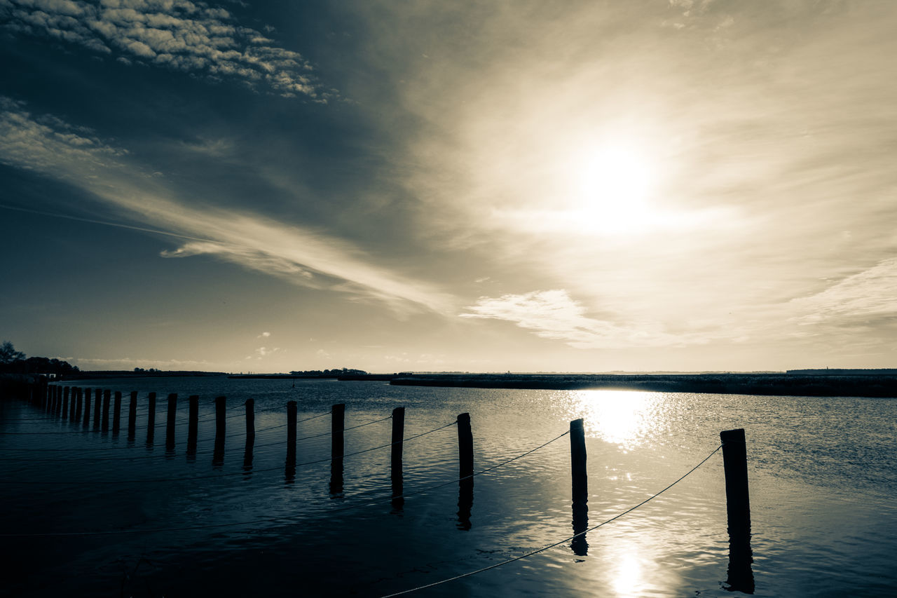 Autumn in Germany Beauty In Nature Bodden Boddensee Getting Inspired Hanging Out Harbour Himmel Und Wolken Horizon Over Water Lake Nature No People Ostsee Reflection Sun Sunset Water Zingst