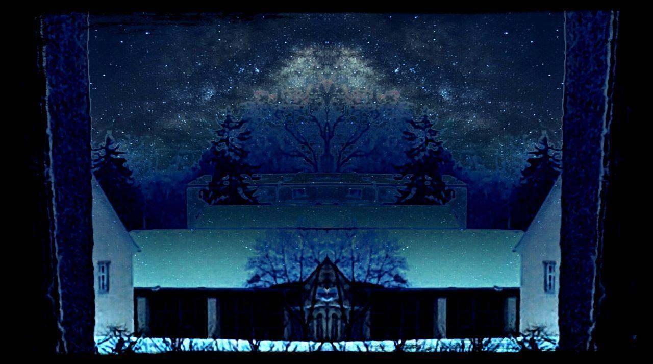 Mirror effect night house sky Winter Constellation Star - Space