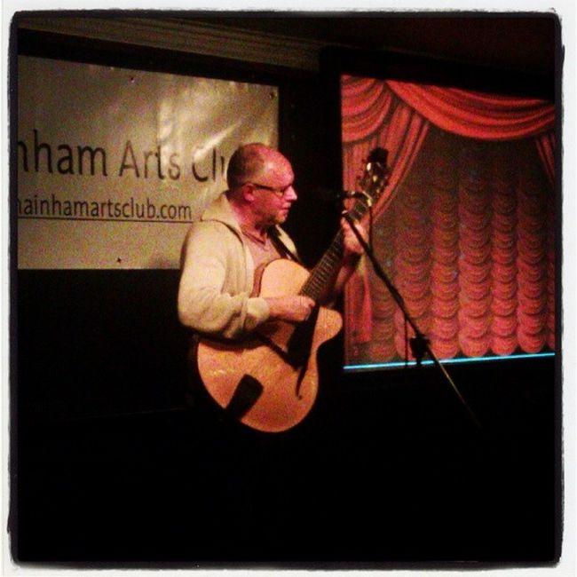 Hugh Buckley playing some chords @KilmainhamArtsClub Music Guitarman Musician Hughbuckley irishigers dublin firstmondays